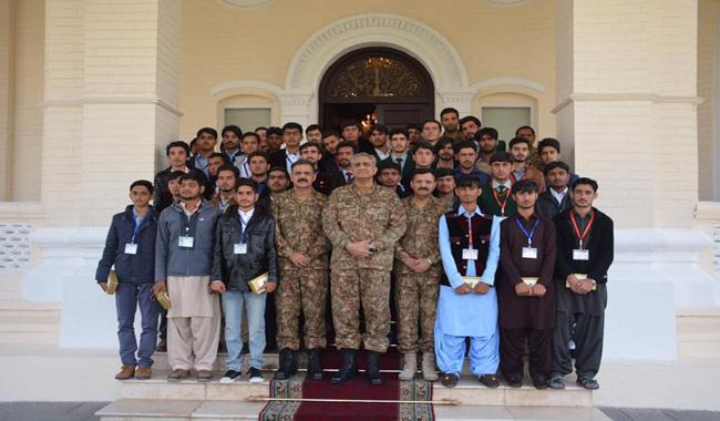 Students meet Army Chief General Qamar Bajwa