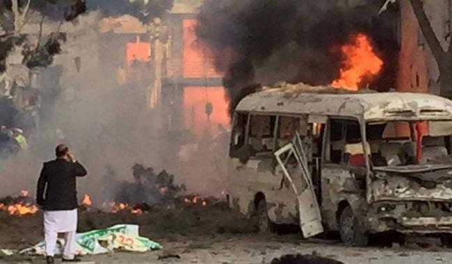 Blast targets bus in downtown Kabul during rush hour