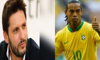 Shahid Afridi wins Ronaldinho's heart