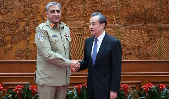 COAS thanks Chinese FM for diplomatic support to Pakistan