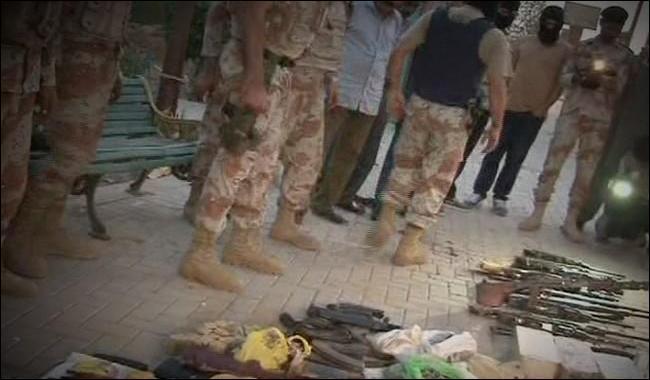 Karachi: Rangers foil terror bid, recover huge cache of arms