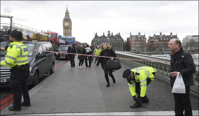 Four dead in 'terrorist' attack close to UK parliament