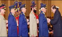 Recipients of military awards on Pakistan Day