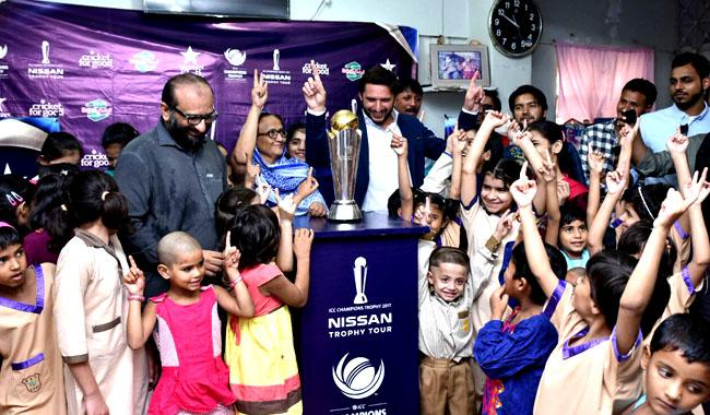 ICC Champions Trophy reaches Edhi home