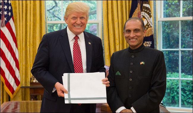 Pakistan Ambassador Aizaz Chaudhry meets Donald Trump