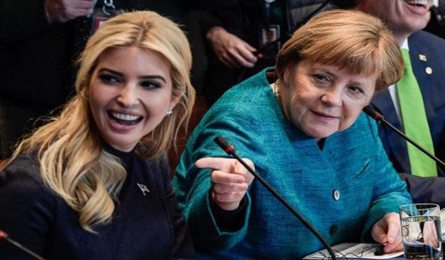 Ivanka rubs shoulders with Merkel, Lagarde at Berlin women´s summit