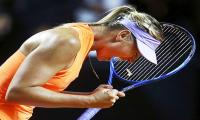 ´Happy´ Sharapova falls in semi-finals on doping comeback