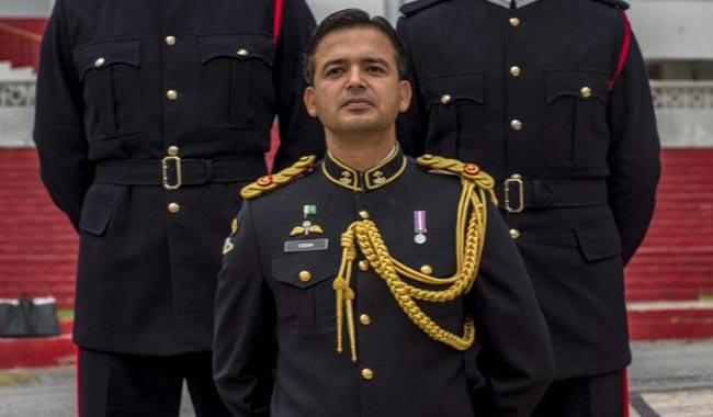 Pakistan army major says training Sandhurst cadets 'humbling'