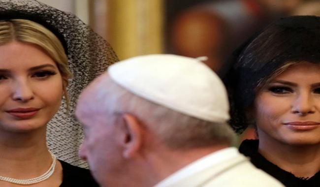 Unlike in Saudi Arabia, Melania and Ivanka covered their heads at Vatican