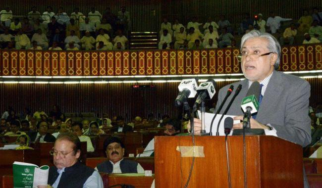 Dar presents budget 2017-2018 amid opposition protest