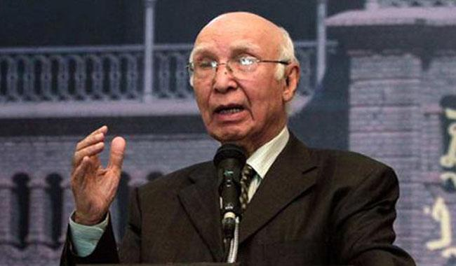 Sectarian differences have increased after Riyadh conference: Sartaj Aziz