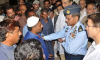 Air Chief visits victims of oil tanker fire tragedy in Lahore
