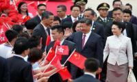 China's president arrives in Hong Kong to mark handover anniversary