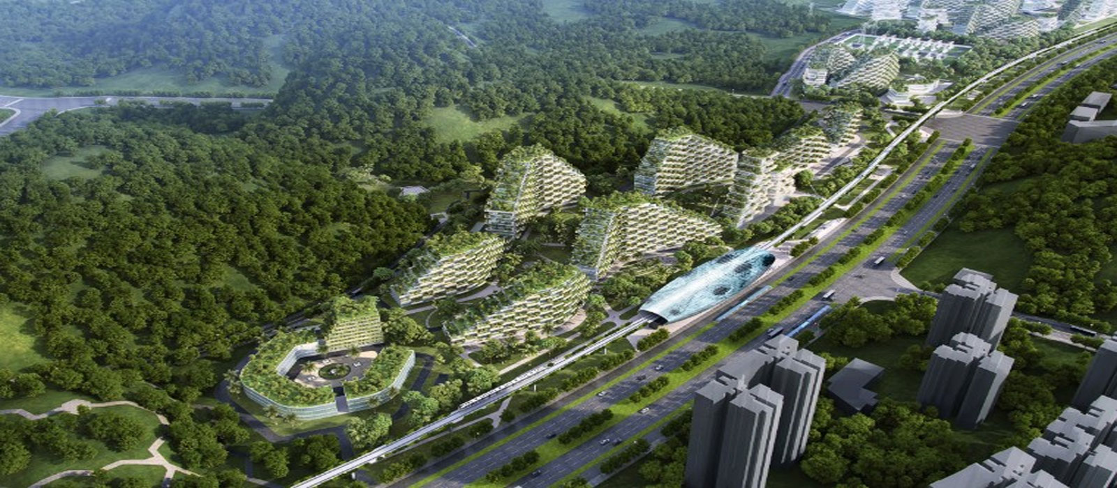 World s first pollution eating forest city liuzhou for Liuzhou forest city