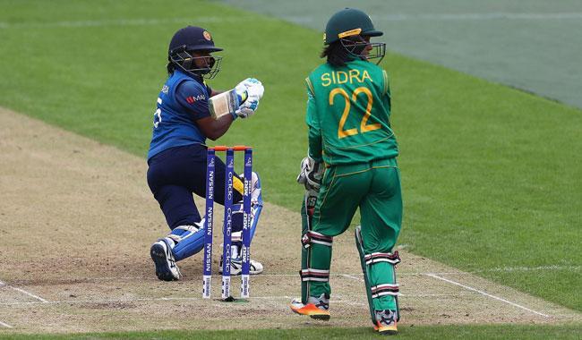 Surangika saves Sri Lanka from total collapse against Pakistan