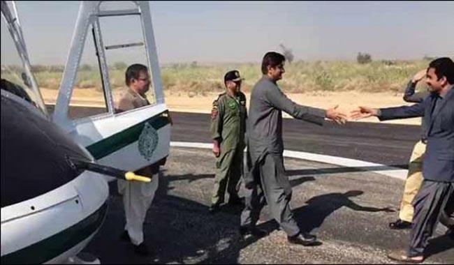 Sindh CM aircraft makes first landing at Islamkot Airport in Thar