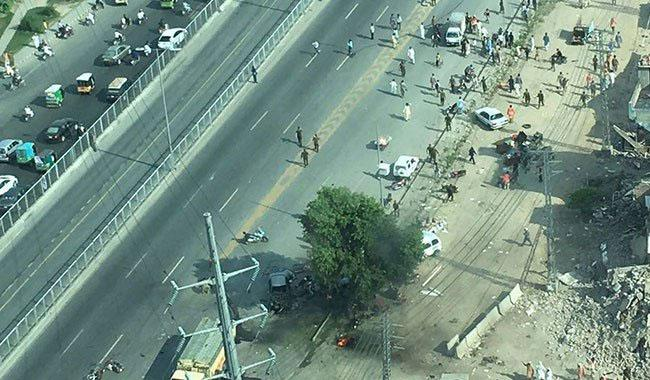 Two killed, 19 injured in explosion near Arfa Karim Tower Lahore