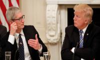 Trump says Apple promised three new US plants: report