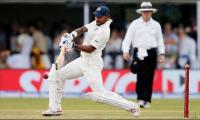 Dhawan blazes sparkling 190 in Test comeback