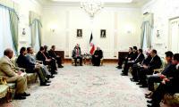 Senate Chairman calls on Iranian President Rouhani