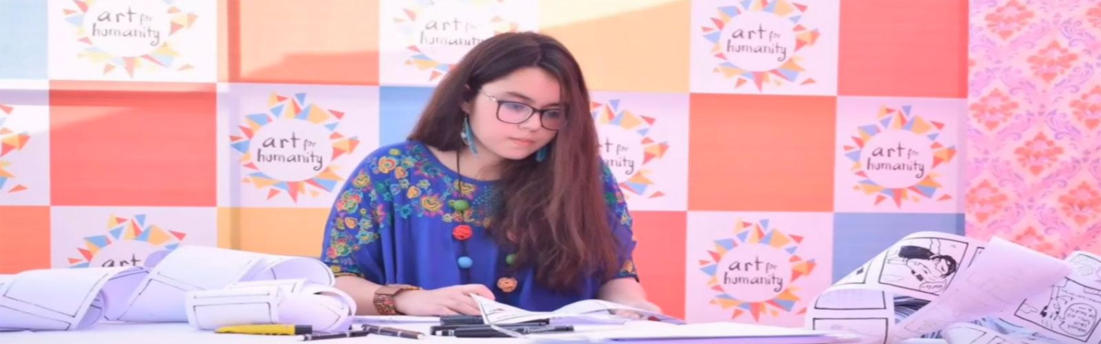 Pakistani female artist sets Guinness World Record