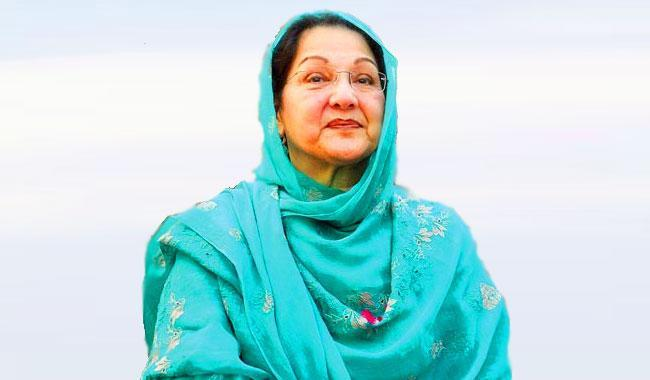 Kalsoom Nawaz signs nomination papers for NA-120 by-poll