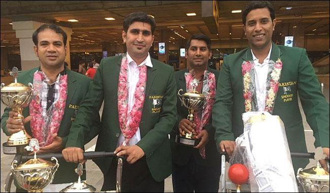 Victorious Pakistani snooker team disappointed with government attitude