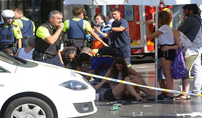 Police say Barcelona van crash a 'terrorist attack'