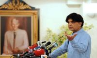 Nisar hits back at Pervaiz Rashid for 'passing the buck' to interior ministry, establishment
