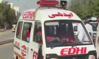 One dead, 16 wounded as bus hits hight-restriction barrier