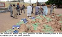 PAF taking part in relief operations in rain-affected areas of Karachi