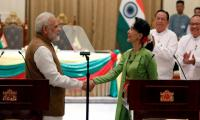 Suu Kyi thanks Modi for strong stance with regard to Rohingya Muslims