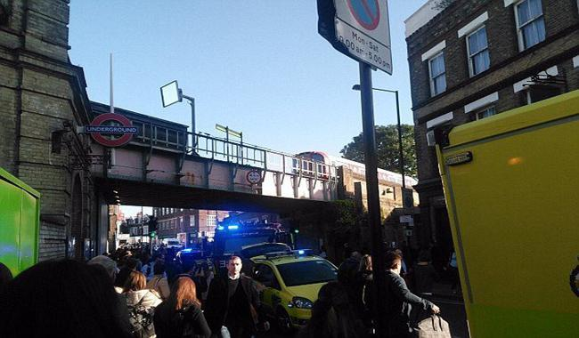 Passengers badly burned in London Underground terror attack