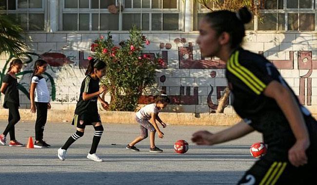 Palestinian girl footballers break cultural barriers