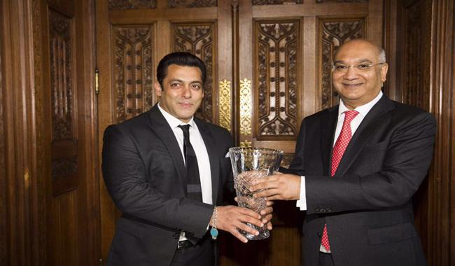 Salman Khan receives Global Diversity Award at Britain's House of Commons