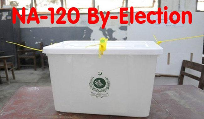 Polling today in NA-120 by-election, tough contest expected