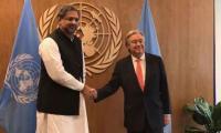 PM calls on UN Secretary General, hands dossier on HR violations in IoK