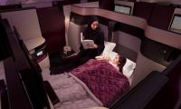 Double beds in Qatar Airways