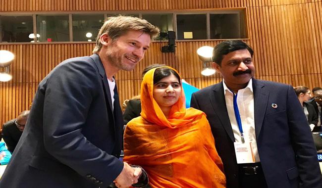 Malala thanks Game of Thrones star for raising voice on violence against women