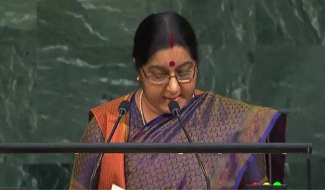 Sushma Swaraj urges SCO to tackle terror together