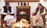 PM Abbasi meets Nawaz, discusses political situation