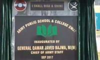 COAS inaugurates Army Public School & College in Swat