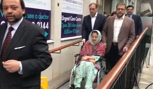 Begum Kulsoom Nawaz discharged from hospital