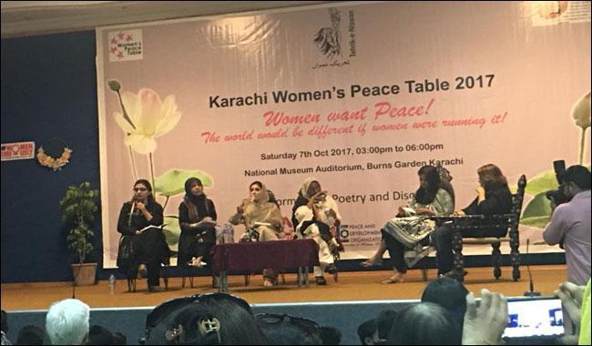 Inside Karachi Women's Peace Table 2017