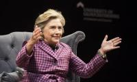Clinton accuses WikiLeaks of blunting impact of crude Trump tape