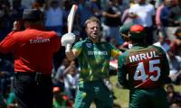 Brilliant De Villiers blows away Bangladesh