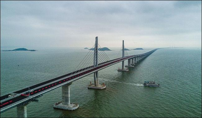World's longest sea bridge in final stage of completion