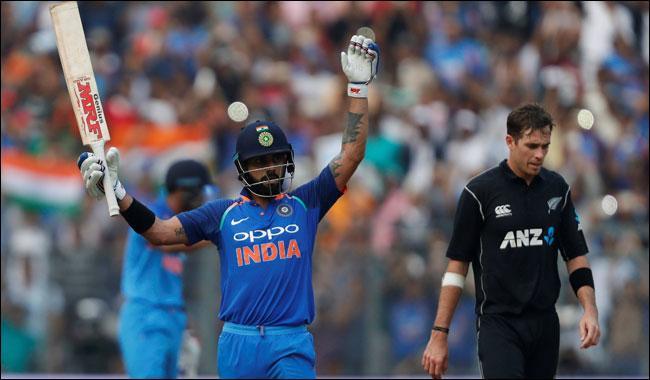 Kohli century fires India to 280-8 against N.Zealand