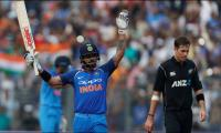 Kohli century fires India to 280-8 against N.Zealand