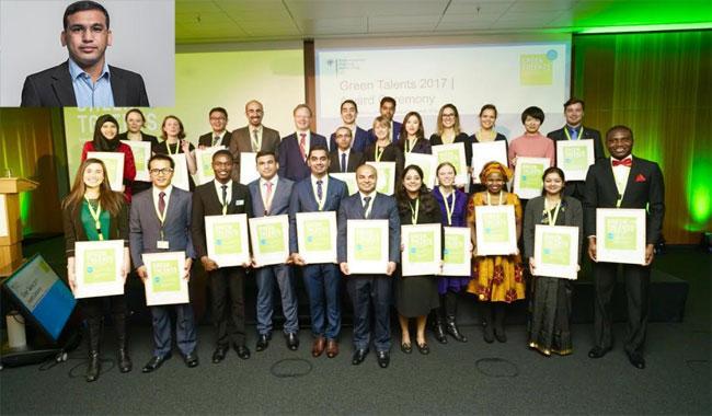 Pakistani scientist Dr. Kashif received 'Green Talent Award 2017' in Berlin